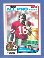 1982 Topps Joe Montana SAN FRANCISCO 49ERS #489 NM-MT+ Condition & Well Centered