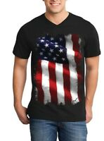 Large American Flag Patriotic Men V-Neck 4th of July USA Flag Shirts
