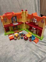 RARE Elc Happyland - Goldilocks And The Three Bears House With 3 Bear Figures