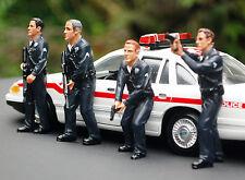 24031 B, agente di polizia set of 4, 1:24, American Diorama NUOVO, NUOVO 2016 NUOVO, NUOVO