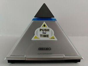 Seiko Pyramid Talking Clock Time Table Desk Speaking Alarm Clock EXCELLENT     4