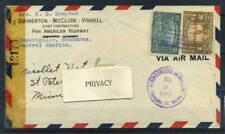 Honduras 1943 Busta 100% Air mail Tegucigalpa America Centrale