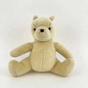 "Gund Classic Winnie Pooh Bear Baby Plush Stuffed Animal Rattle 5.5"""