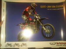 POSTER GERT VAN DOOR VOR 2001 MOTOCROSS WORLD CHAMPIONSHIP RACING