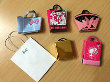 6 Barbie Doll Accessory Cardboard Shopping Mall Store Gift Bag Lot