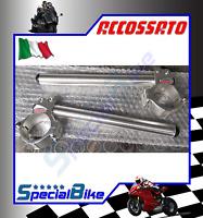 DUCATI 999 / S / R / BIPOSTO 2002 > 2006 COPPIA SEMIMANUBRI ACCOSSATO SILVER