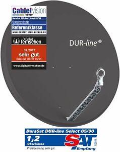 DUR-line Select 85/90 Anthrazit  - Alu Sat-Antenne Schüssel Parabolantenne