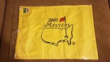 2005 Masters flag  Jack Nicklaus last Masters. Tiger Woods 4th Masters win