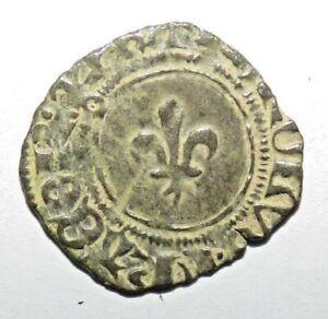 RARE ETAT  Denier tournois dit PETIT NIQUET vers 1421,  0.8g