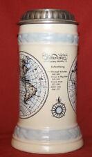 Vintage German Heinz Litho Map Lidded Stein Mug Tankard