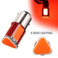 Pair Red 1157 BAY15D COB LED Car Tail Stop Brake Light Turn Signal Bulb Lamp 12V