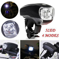 New Cycling Bike Bicycle Super Bright 5 LED Front Head Light Lamp 4-Modes Torch