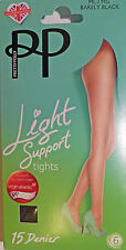 Pretty Polly Medium to Large Size Light Support 15 Denier Tights various shades
