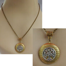 Celtic Tree of Life Gold Necklace Locket Pendant Handmade Fashion Chain New