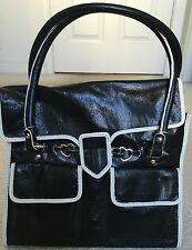 bebe Black Leather Handbag Vintage Pocketbook - NEW NWT