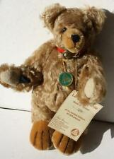New ListingHermann Teddy Bear Mohair Limited Edition Leaving Home Red Collar w-Bell Tags