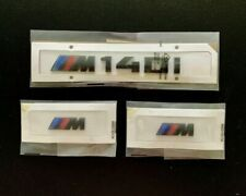 BMW M140i REAR GLOSS BLACK BOOT-LID+M SPORT WING BADGES EMBLEM SET F20 F21 UK