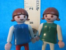 Playmobil vintage figures SET OF 2 GIRLS 1981 different clothes + same hair