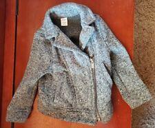 Old navy 18-24 months girls toddler Gray moto biker jacket zipper front coat