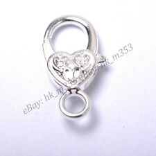 Gold Silver Plated Bronze Copper & Floral &Charms Heart Lobster Clasps