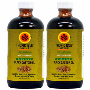 Tropic Isle Living Jamaican Black Castor Oil Healing 8 oz - Pack of 2