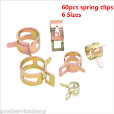 60PCS 12-22mm Spring Clip Vacuum Fuel Oil Hose Line Air Tube Band Clamp 6 Sizes