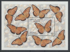 PAPILLON Turques et Caiques 1 bloc ** de 1990 2