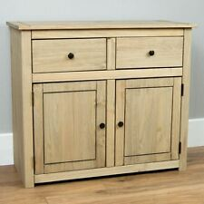 Panama Sideboard 2 Door 2 Drawer Cupboard Chest Natural Wooden Solid Furniture