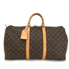 100% Authentic Louis Vuitton Monogram Keepall 50 Boston Travel Hand Bag /11179