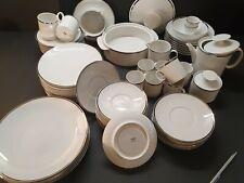 More details for vintage thomas germany white porcelain platinum silver band; dinner & coffee set