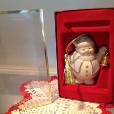 Lenox Christmas Ornament Snowman w/lantern, 6th and Last in Series 2004