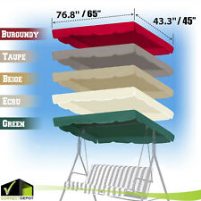 "66""x45"" or 77""x43"" Patio Outdoor Garden Swing Canopy Replacement Porch Top Cover"