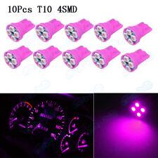 10X T10 158 192 Wedge W5W 4-SMD Pink  Purple LED Instrument Panel Light Bulb XB