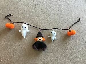 Halloween Garland Handmade New Witch Ghosts And Pumpkins  Great Fun