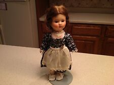"""Antique 1930's Paper Mache Doll 13"""" Nice blushing W/ Clothing"""