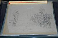 Vintage Frank Kelly Freas LARGE Pied Piper of Hamelin Original Comic Art Mice