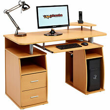 Computer Desk with Shelves Cupboard & Drawers Home Office - Piranha Tetra PC 5b