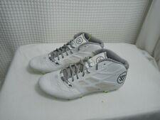 Warrior Burn 8.0 Lacrosse Cleats Men's Size 12 - White/ Silver/ Green