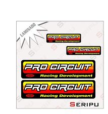 X4 KIT PRO CIRCUIT LAMINADA  STICKERS MOTO  ENDURO VINILO DECAL ADHESIVO