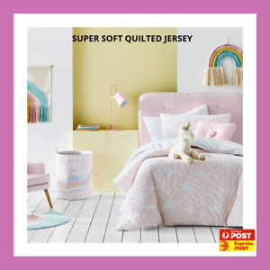 MILLYS UNICORN jersey QUILTED SINGLE Quilt Doona Duvet Cover set ADAIRS kids