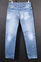 Vintage 90s LEVI'S 501 Button Fly Denim Jeans USA Mens Size 36x40 Actual (34x36)