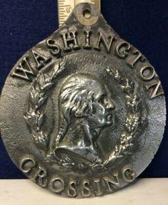 "Rare G. Washington crossing Delaware 5"" wall plaque"