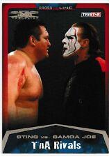 Sting vs. Samoa Joe 2008 TriStar TNA Cross The Line Gold Card # 95 28/50 WWE