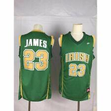 Lebron James #23 Nike Irish High School Men's N Green Jersey