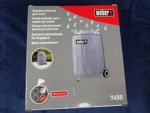 WEBER CHARCOAL GRILL COVER FOR 18.5 INCH GRILL / MODEL 7450 GRAY NIB