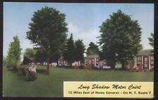 Postcard Delanson Ny Long Shadow Tourist Motor Court Cabins/Cottages 1950's