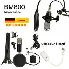 BM-800 Pro Kondensator microphone Mikrofon Kit Komplett Set für Studio Aufnahme#