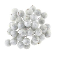 5 Bunch 200x Mini Berry Christmas Frosted Artificial Home Decoration Silver