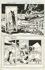ORIGINAL **Marvel Universe   # 1 Page 10 :  Steve Epting / Al Williamson . 1998
