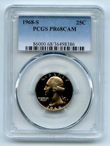 1968 S 25C Washington Quarter PCGS PR68CAM